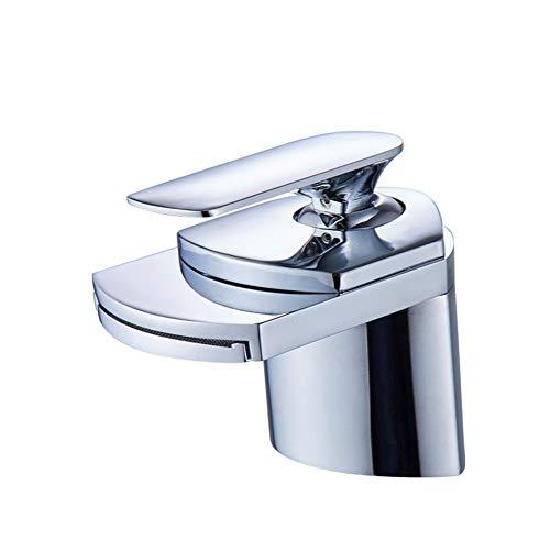 Koperen waterkraan, warm en koud enkele gat kraan, badkamer wastafel kraan, waterval stopkraan badkamer accessoires