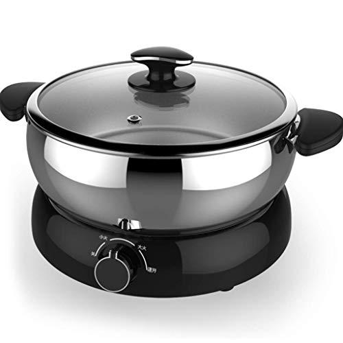 SHAAO Hot Pot Electric mit Getrennt Edelstahl Topfkörper und Adjustable Power for Shabu, Kochen Nudeln, Boiling Water Kleinen Elektroherd