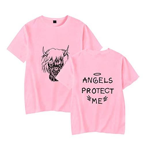 WOOKIT Unisex T-Shirt R.I.P Cry Baby Rapper Hip Hop Frühling Herren T-Shirt Harajuku Casual T-Shirt Damen/Herren Print Kleidung-9995-PK-XL