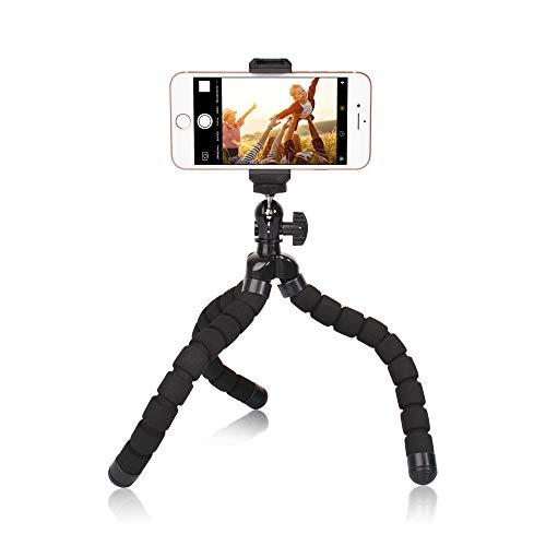 Phone Mini Tripod, Ruittos Premium Flexible Mobile Phone Tripod Stand Compatible with iPhone Samsung Go Pro, Small Digital Camera,
