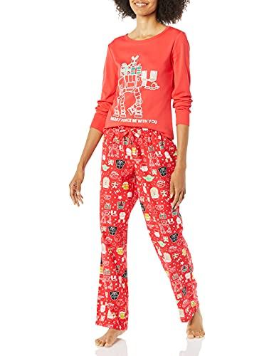 Amazon Essentials Women's Disney Marvel Flannel Pajamas Sleep Sets Pajama, Vacanze Star Wars, X-Large