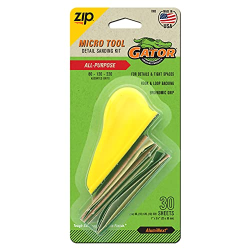 Gator Finishing 7800 Step-123 Micro Zip Sander Project Pack, Multi-Color, 3.5' x 1'