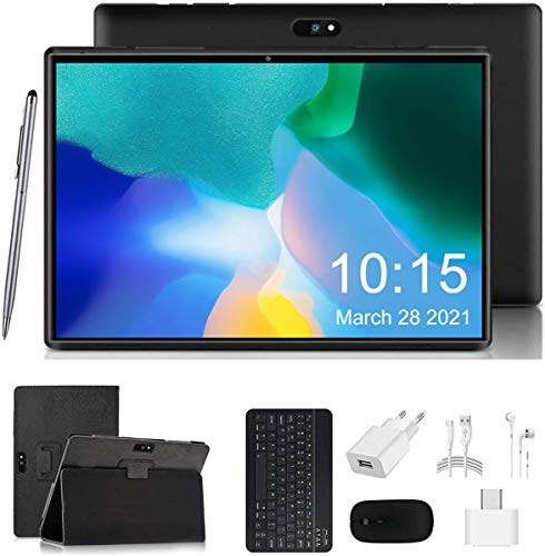 4G LTE Tablet PC Ultra-Portatile Tablets 10.1 Pollici Android 9.0, RAM 3GB/ROM 32GB/ Espandibile 128GB Doppia SIM Con WIFI offerte GPS 8000mAh AOYODKG A38 Tablet(Nero)