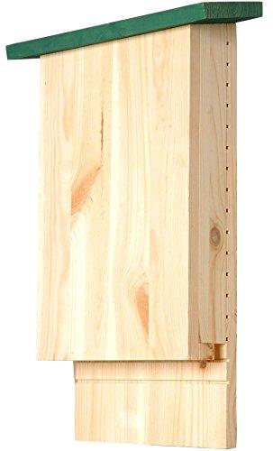 """Luxus-Insektenhotels 22103E Großer Fledermauskasten """"Chioptera"""" mit Anflugbrett und 17 Frässrillen mit Belüftungsfunktion, 26 x 9 x 42 cm"""