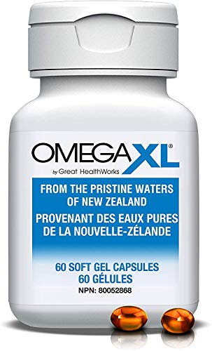 Omega XL 60 Capsules - Green Lipped Mussel New Zealand, Omega 3 Natural Joint Pain Relief & Inflammation Supplement