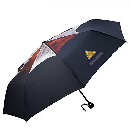 JINPAI Resident Evil Biochemical 6 Ambrera Motiv Regenschirm Schutz Umime Anime Regenschirm Tri-Folding Regenschirm