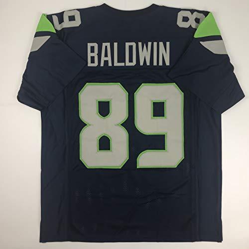 Unsigned Doug Baldwin Seattle Blue Custom Stitched Football Jersey Size Men's XL New No Brands/Logos