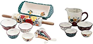 The Pioneer Woman Harvest Bakeware Set, 10-Piece with 5-Piece Prep Set, Measuring Bowls & Cup