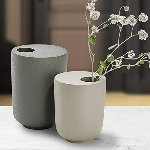 Philippi KODOO Vase Design, Größe:L 14 cm (h). grau-grün
