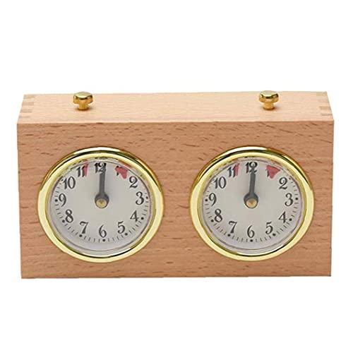 Kacniohen Ajedrez Ajedrez Temporizador analógico Reloj de Juego de Madera Temporizador mecánico de contaje adelante Competencia por el Reloj de Juego de Down