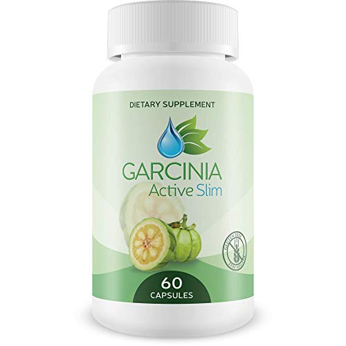 Garcinia Active Slim- 60% HCA Capsules - Best Weight Loss Supplement for Men and Women- Healthy Digestive System - Natural Appetite Suppressant - Increased Energy 60 Capsules