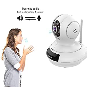 WiFi Camera, LeFun Wireless Surveillance Camera IP Nanny Cam with Pan Tilt Zoom Motion Detect Two Way Audio Night Vision Remote Control 2.4G WiFi for Baby Monitor and Wireless Security Camera