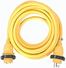 Amp Up Marine & RV Cords 125v 30 amp x 50' Marine Shore Power Boat Extension Cord, 50 ft
