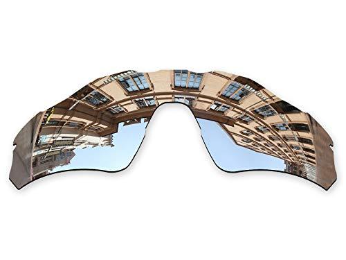 Vonxyz Lenses Replacement for Oakley Radar EV Path Sunglass - Chrome MirrorCoat Polarized