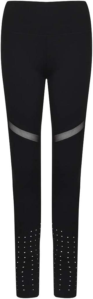 Tombo Oakland Mall Womens Panelled Leggings XS Nashville-Davidson Mall Black
