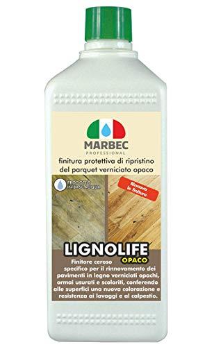 Marbec - LIGNOLIFE OPACO 1LT   Finitura protettiva di ripristino del parquet opaco