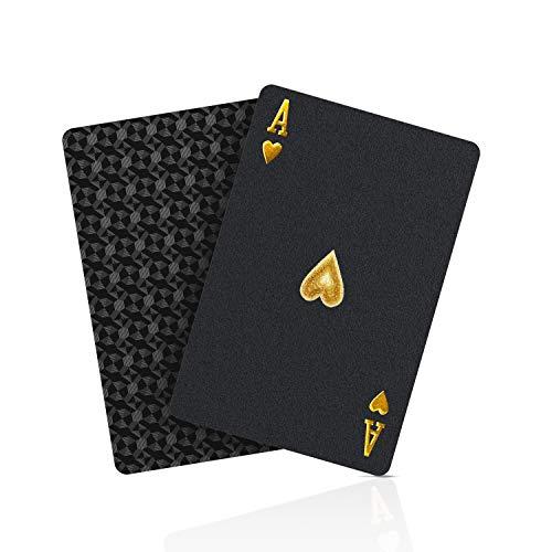 BIERDORF Schwarzer Diamant Kunststoff Pokerkarten Plastik wasserdichte Spielkarten- 1 Deck von Spielkarten Plastik
