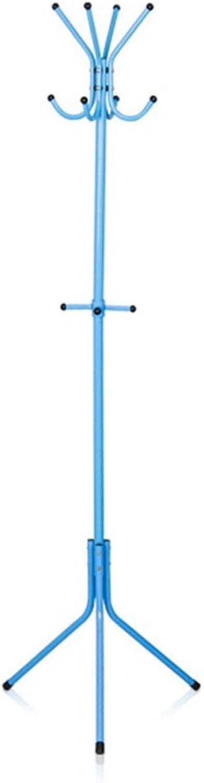 Coat Rack Indoor Simple Metal Hanger Floor Fashion Coat Rack Coat Rack Hanger Rack Hanger (color   bluee)