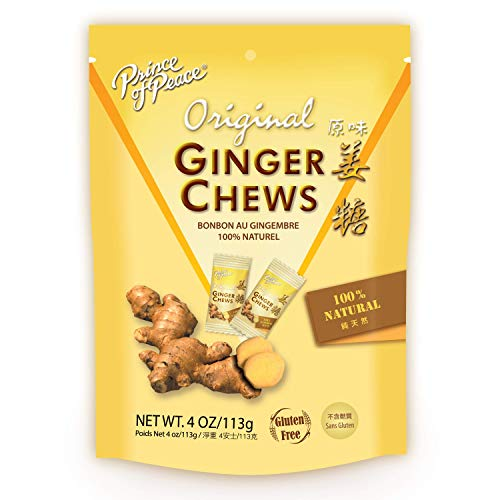 Prince of Peace Original Ginger Chews, 4 oz. – Candied Ginger – Candy Pack – Ginger Chews...
