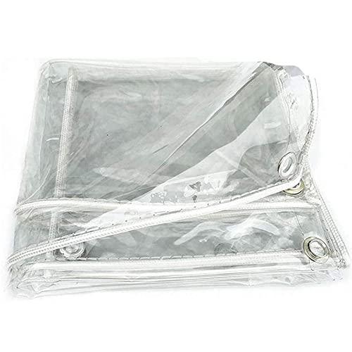 Lona Transparente,Material de PVC Plegable Lona Alquitranada para Prueba de Rasgaduras,Exterior JardíN Toldo Aislamiento TéRmico A Prueba,Para Techo/Camping, Para Muebles, JardíN(Size: 2x2m(6.6x6.6