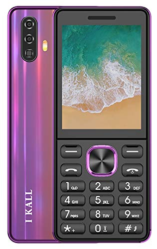 I KALL K444 Premium Multimedia Feature Keypad Mobile Basic Bar Phone with Dual SIM Card, Camera, Fast Charging, King Voice Feature, Torch, Bluetooth (Pink, 2.4 inch)