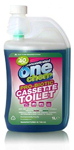 One Chem Probiotic Concentrated Cassette Toilet Fluid 1Litre, Blue