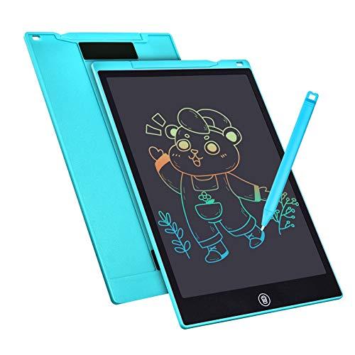 Tavoletta Grafica LCD Scrittura 12 Pollici, Elettronica Tavoletta Grafica Lavagna Portatile da Disegno con Penna per Bambini Progettista Studenti Famiglia Ufficio (blu) (blu)