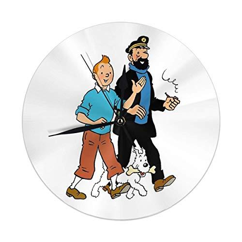 L'horloge Tintin Haddock et Milou