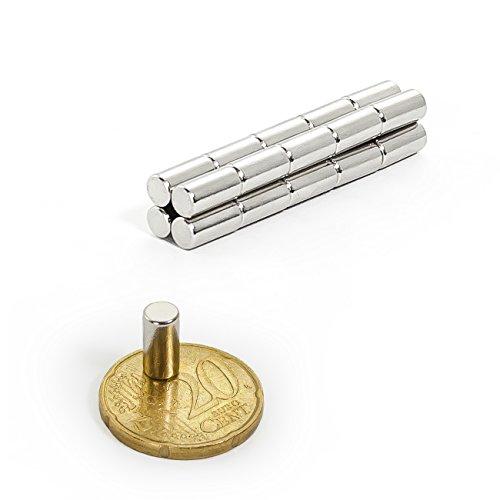 Oblique Unique 10 Mini Magnete, ultrastark - 5x10mm - NEODYM - Das Original