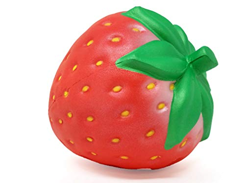 ibloom I Love Strawberry Cute Fruit Slow Rising Squishy Toy (Pearl Red, Big) for Birthday Gifts, Party Favors, Stress Balls, Play at Home & Relieve Stress with Kawaii Squishies for Kids