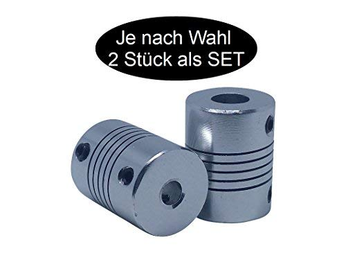 2 x flexible Wellenkupplung je nach wahl (6mm x 8mm - 2 pieces)