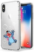 PICAVINCI iPhone 10 CASE,iPhone X CASE, Stitch Playing Bubble 3D Printed Soft Clear Cute Case