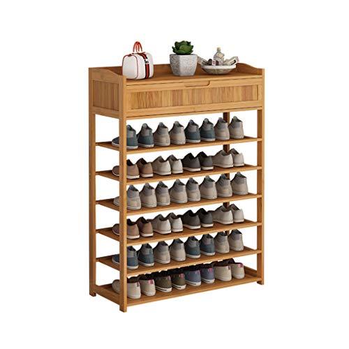 Zapatero Estante de zapatos de bambú de múltiples capas con estante de zapatos del cajón Económico de la puerta de la puerta de la puerta del hogar del estante de la zapata del zapato del zapato del z