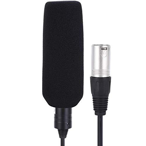 Micrófono de grabación, Micrófono de cámara profesional Micrófono de estudio Micrófono estéreo,...