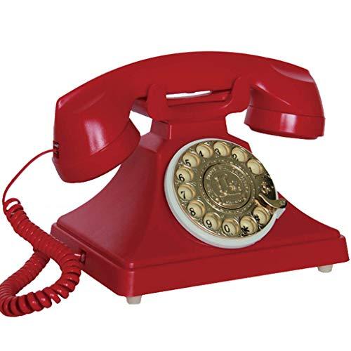 Dial Giratorio de teléfono Retro, Oficina de Moda Creativa con Cable para el hogar, teléfono Fijo Retro Vintage - Azul