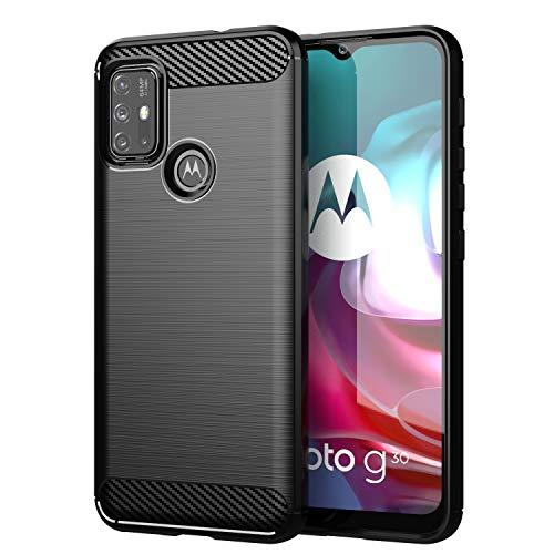 TingYR Hülle für Motorola Moto G30, Ultra Thin Silikon hülle Abdeckung Handy Hülle Stoßfest Hülle Schutzhülle, Handyhülle für Motorola Moto G30 Smartphone.(Schwarz)
