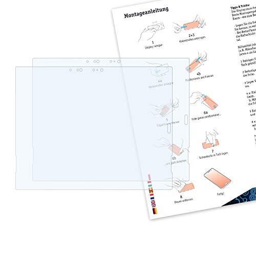 Bruni Schutzfolie kompatibel mit Lenovo ThinkPad X1 Tablet 3rd Gen. 2018 Folie, glasklare Displayschutzfolie (2X)