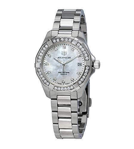 Tag Heuer Aquaracer Diamant weiß Mother of Pearl Zifferblatt Damen-Armbanduhr wbd1315. ba0740