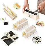 Snongh Kit De Equipos De Fabricante De Sushi,Kit De Juego Easy Sushi Maker,Herramienta De Sushi para Principiantes con Múltiples Formas Molde De Arroz Y Espátula De Arroz,Fácil De Usar-Un 10pcs