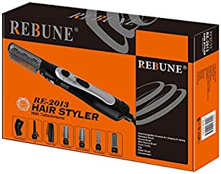 Rebune Hair Styler 8 in 1 Hair Style 1000 Watts, Black, RE-2013