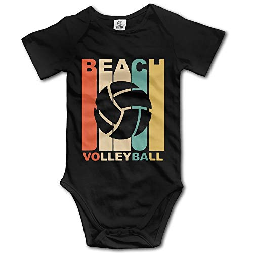 fhcbfgd Vintage Beach Volleyball Babys Short Sleeve Romper Bodysuit Outfits