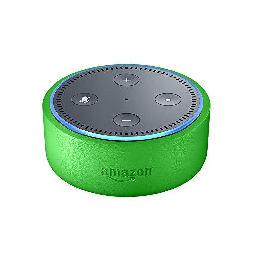 Echo Dot Kids Edition, a smart speaker with Alexa for kids - green case
