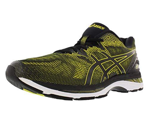 ASICS Men's Gel-Nimbus 20 Running Shoe, Sulphur Spring/Black/White, 10 Medium US