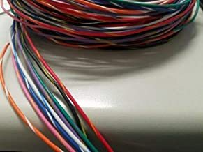 AUTOMOTIVE WIRE 20 AWG HIGH TEMP TXL WIRE GREEN W//ORANGE STRIPE  25 FT COIL