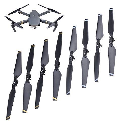 CamKix Propulsores Compatible con dji Mavic Pro – 2 Juegos (8 Cuchillas) – Negro – Alas Plegables de Lanzamiento rápido – Pruebas de Vuelo