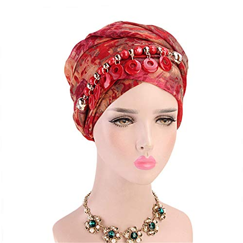 NEHARO Turbante Slouchy Headwear 2 unids Collar Bufanda Viento Turbante Sombrero señoras Envuelto Bufanda para Mujeres y niña Sombrero de Beanie (Color : D, Size : One Size)