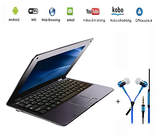 G-ANICA 10.2' (HDMI, Wi-Fi, Ethernet, 1.5 GHz, 512 MB + 4 GB) Ultrabook Laptop with Black Headphones