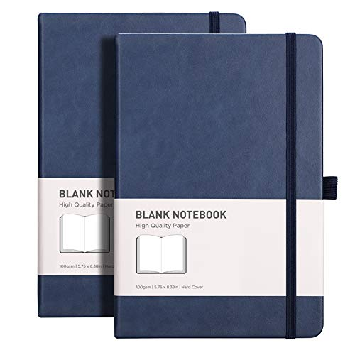 RETTACY Journal Blank Page Notebook with 384 Pages,Blank Drawing Notebook with...