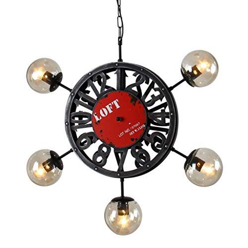 Verlichting/binnen Lampklok Magische Bonen Woonkamer Restaurant Karakter Kroonluchter Restaurant Kleding Winkel Helm 5 Hanglampen, D70 * 70cm, E27 * 5 * Maximaal 6