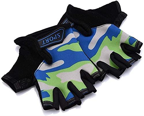 Invierno guantes cálidos niños montar en medio dedo guantes protección de bicicletas guantes montar a caballo de sudor absorbente transpirable guantes transpirables accesorios ciclismo guantes for esq